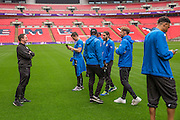 Forest Green Rovers Football Club Familiarisation visit to Wembley Stadium, London, England on 10 May 2016. Photo by Shane Healey.