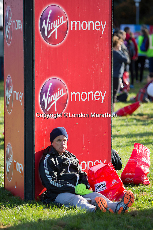 The scene in Greenwich Park ahead of the mass start of the The Virgin Money London Marathon 2014 on Sundy 13 April 2014<br /> Photo: Neil Turner/Virgin Money London Marathon<br /> media@london-marathon.co.uk