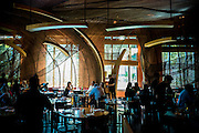 DUBAI, UAE - DECEMBER 18, 2015: Main dining area at the Nobu Dubai restaurant, Atlantis, The Palm Jumeirah. The restaurant can accommodate up to 250 guests.