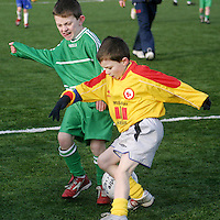 There was a fight for posession between Connolly's Anadh McMahon and Avenue's Cathal Lynch during a soccer blitz at Lees Road on Saturday morning.<br /> <br /> Photograph by Yvonne Vaughan.