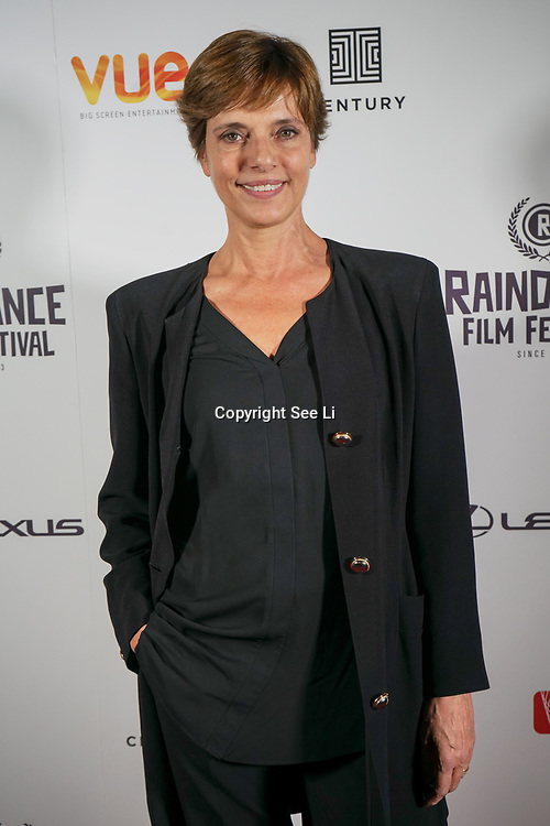 London, England, UK. 28th September 2017. Bettina Giovannini actress of Noble Earth attend Raindance Film Festival Screening at Vue Leicester Square, London, UK.