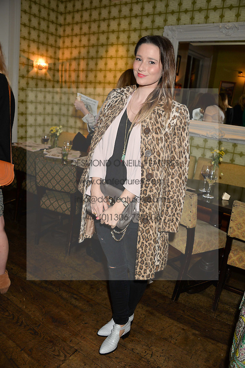 KELLY EASTWOOD at a party to celebrate the publication of 'Honestly Healthy For Life' by Natasha Corrett held at Bumpkin, 209 Westbourne Park Road, London on 26th March 2014.