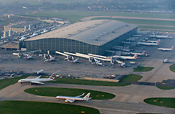 © London News pictures...  FILE PICTURE. Terminal 5 at London Heathrow Airport in West London which has been given the go ahead for the expansion of a third runway by the airports Commission report. Photo credit: Ben Cawthra/LNP