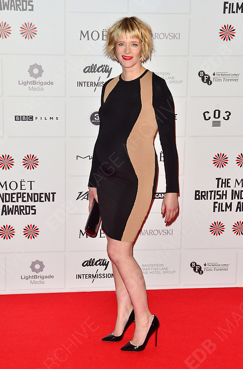 09.DECEMBER.2012. LONDON<br /> <br /> EDITH BOWMAN ATTENDS THE BRITISH INDEPENDENT FILM AWARDS AT OLD BILLINGSGATE MARKET. <br /> <br /> BYLINE: JOE ALVAREZ/EDBIMAGEARCHIVE.CO.UK<br /> <br /> *THIS IMAGE IS STRICTLY FOR UK NEWSPAPERS AND MAGAZINES ONLY*<br /> *FOR WORLD WIDE SALES AND WEB USE PLEASE CONTACT EDBIMAGEARCHIVE - 0208 954 5968*