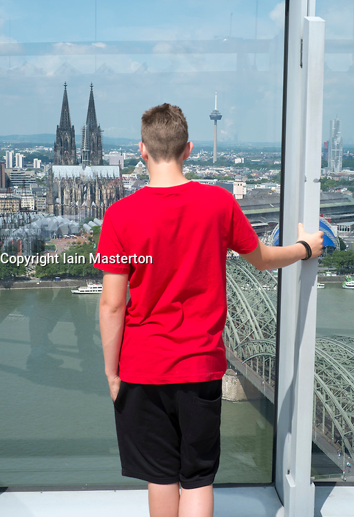 Skyline of Cologne with famous cathedral in Germany
