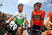 Mark Cavendish (GBR - Dimension Data) - Sonny Colbrelli (ITA - Bahrain - Merida) during the 105th Tour de France 2018, Stage 6, Brest - Mur de Bretagne Guerledan (181km) in France on July 12th, 2018 - Photo Luca Bettini / BettiniPhoto / ProSportsImages / DPPI