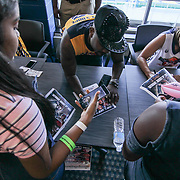 Singer and TV personality Ray J signs autographs during The 15th annual Duffy's Hope Celebrity Basketball Game Saturday, August 05, 2017, at The Bob Carpenter Sports Convocation Center, in Newark, DEL.<br />