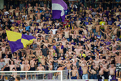 Viole, fans of Maribor during football match between NK Maribor and APOEL FC, (Cyprus) in Third qualifying round, Second leg of UEFA Champions League 2014, on August 6, 2013 in Stadium Ljudski vrt, Maribor, Slovenia. (Photo by Vid Ponikvar / Sportida.com)