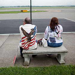 Supporters wait for Attorney General of Virginia Ken Cuccinelli to arrive at the Roanoke airport.  May 20, 2013