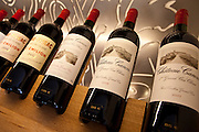 Fine wines Chateau Canon 1er Grand Cru Classe, Chateau Figeac, at Vignobles et Chateaux wine merchant in St Emilion, Bordeaux, France