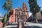 Oratorio of San Felipe Neri church in the colonial UNESCO heritage city of San Miguel de Allende, Mexico.