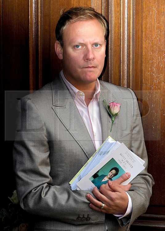 © Licensed to London News Pictures. 22/10/2011. Manchester, UK.Antony Cotton at the funeral of former Coronation Street actress Betty Driver at St Ann's Church in Manchester. The actress lived to the age of 91. Photo credit : Joel Goodman/LNP