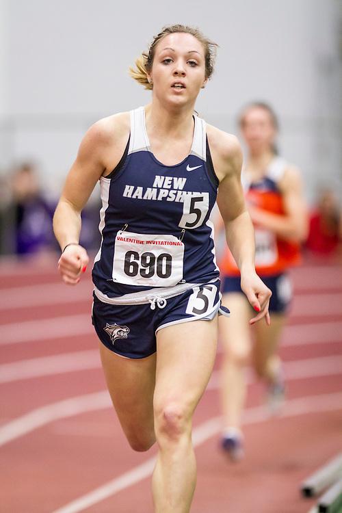 Boston University Valentine Indoor track & field meet: womens mile, Eli Purrier, New Hampshire