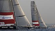 FRANCE, Nice, 19th November 2009, Louis Vuitton Trophy, Day 12, Semi Final Day 1, TEAMORIGIN vs Azzura, Race 1, First leg.