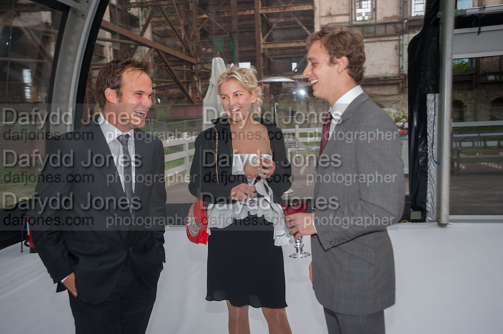 FRANCESCA CIARDI; CAROLINE RUPERT; SEAN DAVY, CARTIER CHELSEA FLOWER SHOW DINNER Dinner hosted by Cartier in celebration of the Chelsea Flower Show was held at Battersea Power Station. 22 May 2012