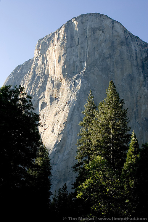 The Nose of El Capitan, a 3000 foot (1000 meter) rock face in Yosemite National Park.