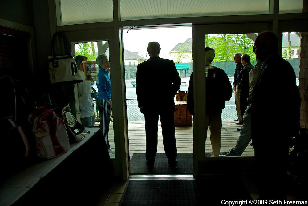 Donald Trump at the opening of Trump National Golf Club Washington DC