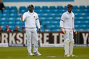 Sri Lanka   Captain Angelo Mathews and Sri Lanka   wicket keeper Dinesh Chandimal   during the Investec Test Series 2016 match between England and Sri Lanka at Headingly Stadium, Leeds, United Kingdom on 19 May 2016. Photo by Simon Davies.