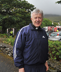 Archbishop of Tuam Dr Michael Neary at the car Park at Croagh Patrick on reek sunday.<br /> Pic Conor McKeown