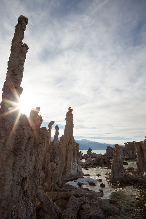 """Tufas at Mono Lake 10"" - These tufas were photographed at the South Tufa area in Mono Lake, California."