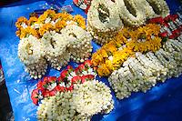 Strung flowers, garland, Bangkok,Thailand