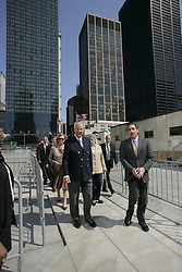 NEW YORK, NY - MAY-13-2007 - King Albert II and Queen Paola of Belgium take a tour of Ground Zero in New York City, with developer Larry Silverstein. (Photo © Jock Fistick)