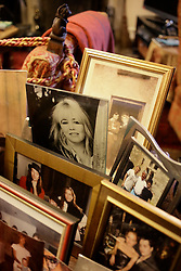 UK ENGLAND THAME 27AUG14 - Family photographs of deceased Bee Gees singer  Robin Gibb reproduced at his home in Thame, Oxfordshire.<br /> <br /> jre/Photo by Jiri Rezac<br /> <br /> © Jiri Rezac 2014