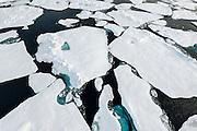 Arctic Ocean sea ice in September, 2012.