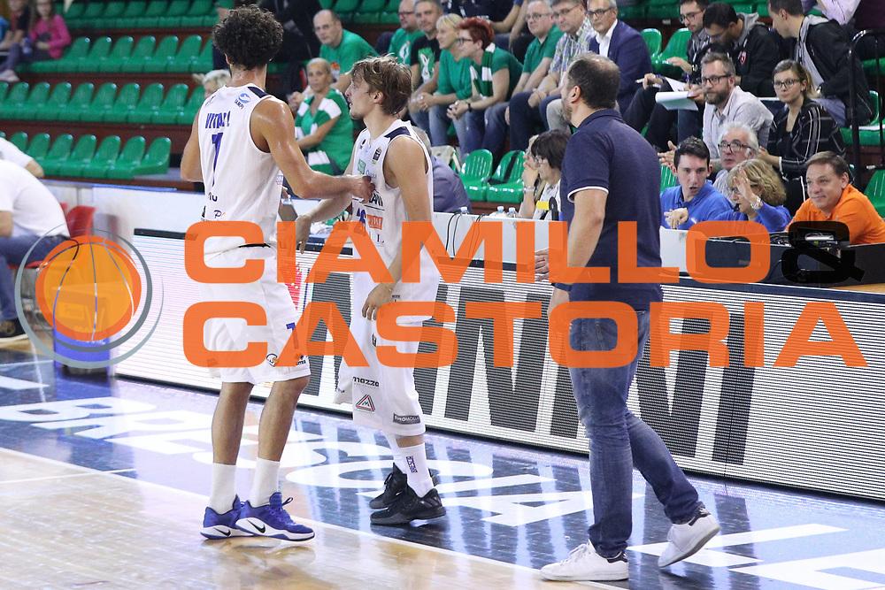 Cambio Vitali Luca per Traini Andrea, Germani Basket Brescia vs Stelmet Zielona Gora, 2 edizione Trofeo Roberto Ferrari, PalaGeorge di Montichiari 22 settembre 2017