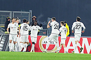 Wolfsberg players celebrates after scoring 1-1 by Florenzi autogoal during the UEFA Europa League, Group J football match between AS Roma and Wolfsberg AC on December 12, 2019 at Stadio Olimpico in Rome, Italy - Photo Federico Proietti / ProSportsImages / DPPI