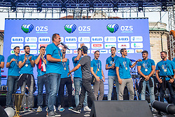 Metod Ropret the president of volleyball association of Slovenia during the Day for the medals: Reception of Slovenian sport heroes on 30.9.2019 on Kongresni square, Ljubljana, Slovenia. Photo by Urban Meglič / Sportida