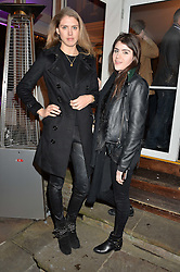 Left to right, SABRINA PERCY and LEXI ABRAMS at a party to celebrate the new partnership of Maids to Measure with Touker Suleyman held in The Winter Marquee, Home House, 20 Portman Square, London on 2nd March 2016.
