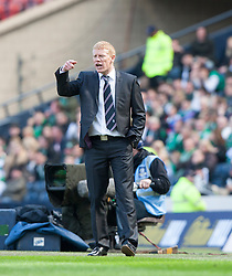 Falkirk manager Gary Holt..Hibernian 4 v 3 Falkirk, William Hill Scottish Cup Semi Final, Hampden Park..©Michael Schofield..