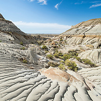 badlands montana eroding sand and painted cliffs