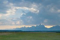 Storm clouds over the Teton Range,m Grand Teton National Park, Wyoming