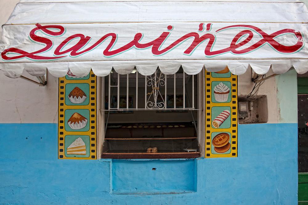 Cake shop in Holguin, Cuba.