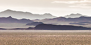 These are the Funeral Mountains in Death Valley, California, viewed from the east in Nevada.