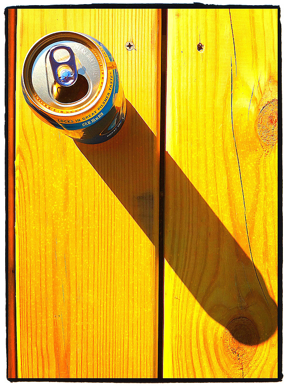 Sunlight on Miller Lite. Edited using ProCamera and PS Express apps.(Photo by Sam Lucero)