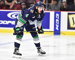 Turner Ottenbreit of the Seattle Thunderbirds in Game 3 of the 2017 MasterCard Memorial Cup against the Windsor Spitfires on Sunday May 21, 2017 at the WFCU Centre in Windsor, ON. Photo by Aaron Bell/CHL Images