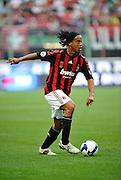 AC Milan's Brazilian forward Ronaldinho in action against Sampdoria during their Italian Serie A match on October 19, 2008 at San Siro Stadium in Milan.