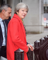 © Licensed to London News Pictures. 06/12/2018. London, UK. British Prime Minister THERESA MAY is seen leaving the BBC following an interview on Radio 4. Photo credit: Ben Cawthra/LNP