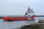 Images of PSV 'Standard Princess' departing the Aberdeen Harbour