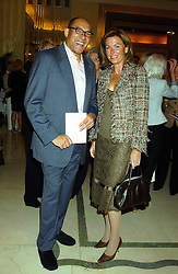 EIMEAR MONTGOMERIE and BRUCE OLDFIELD at a lunch and fashion show by Bruce Oldfield in aid of Barnados and held at Claridges, Brook Street, London W1 on 22nd September 2004.<br /><br />NON EXCLUSIVE - WORLD RIGHTS