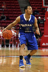 31 December 2014:   Brenton Scott during an NCAA Division 1 Missouri Valley Conference (MVC) men's basketball game between the Indiana State Sycamores beat the Illinois State Redbirds 63-61 at Redbird Arena in Normal Illinois