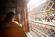 COPYRIGHT 2007 CHRISTINA SJ&Ouml;GREN<br /> ALL RIGHTS RESERVED<br /> Woman at a local train in Bombay (Mumbai), India