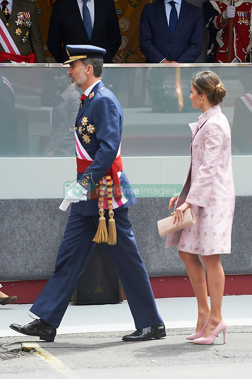 King Felipe VI of Spain, Queen Letizia of Spain attended the Armed Forces Day Homage on May 26, 2018 in Logrono, La Rioja, Spain. 26 May 2018 Pictured: King Felipe VI of Spain, Queen Letizia of Spain. Photo credit: MEGA TheMegaAgency.com +1 888 505 6342