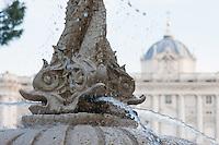 palacio real and jardines de sabatini in madrid spain