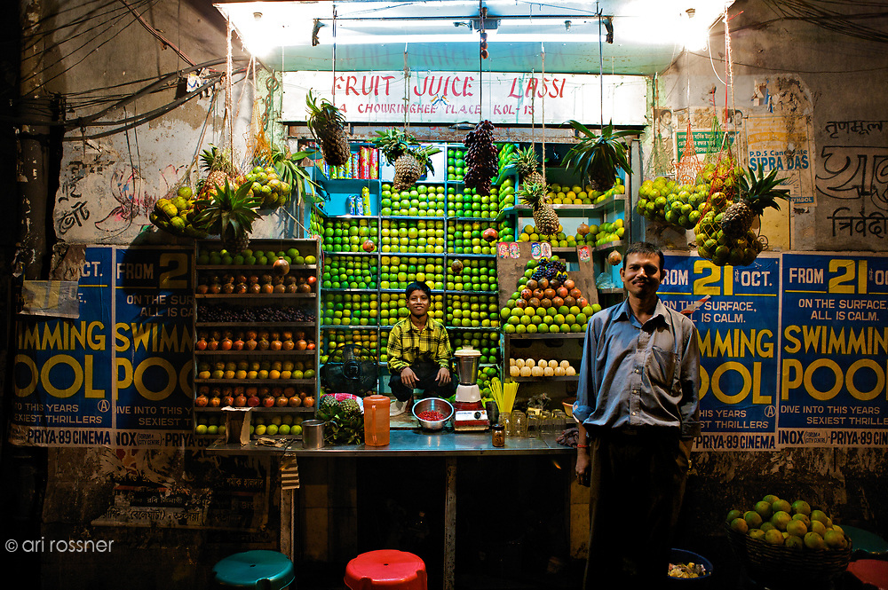 Oh Kolkata! Fruit Juice Lassi Father and son