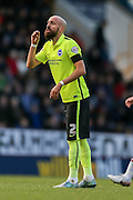 Brighton defender Bruno Saltor  during the Sky Bet Championship match between Burnley and Brighton and Hove Albion at Turf Moor, Burnley, England on 22 November 2015. Photo by Simon Davies.