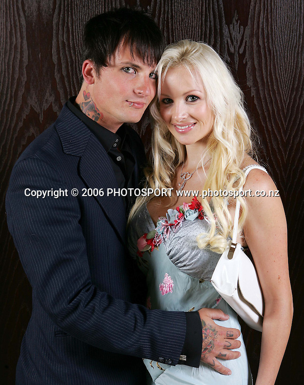 Scotty Rocker and Vicky-Lee before the KIA Motors Peoples Choice Awards held at SkyCity Grand Hotel in Auckland, New Zealand on Friday, 8 December 2006. Photo: Tim Hales/PHOTOSPORT